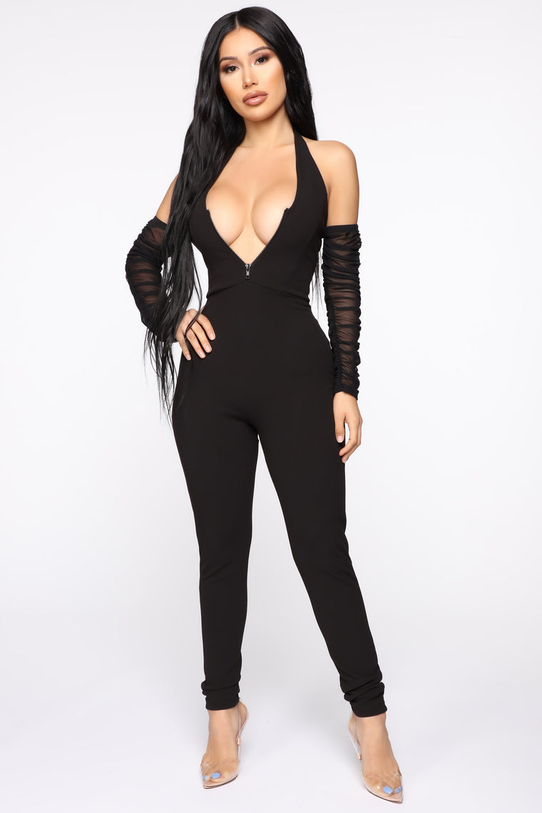 Veronika Halter Jumpsuit - Black