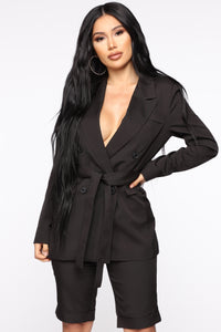 Slightly Proper Blazer Set - Black Angle 1
