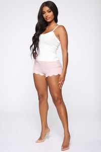 Jennifer High Rise Shorts - Pink