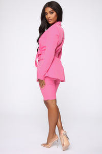 Slightly Proper Blazer Set - Pink Angle 5