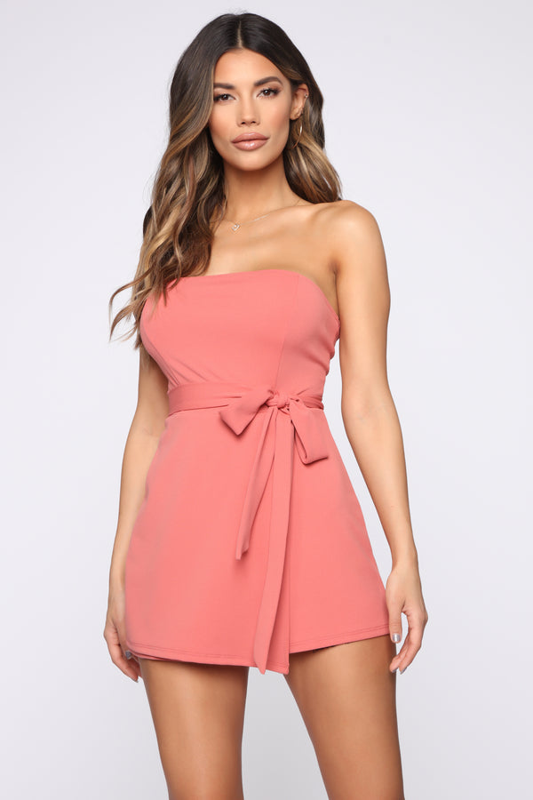 efedcfe8ee1b Brighten Up Tube Romper - Peach