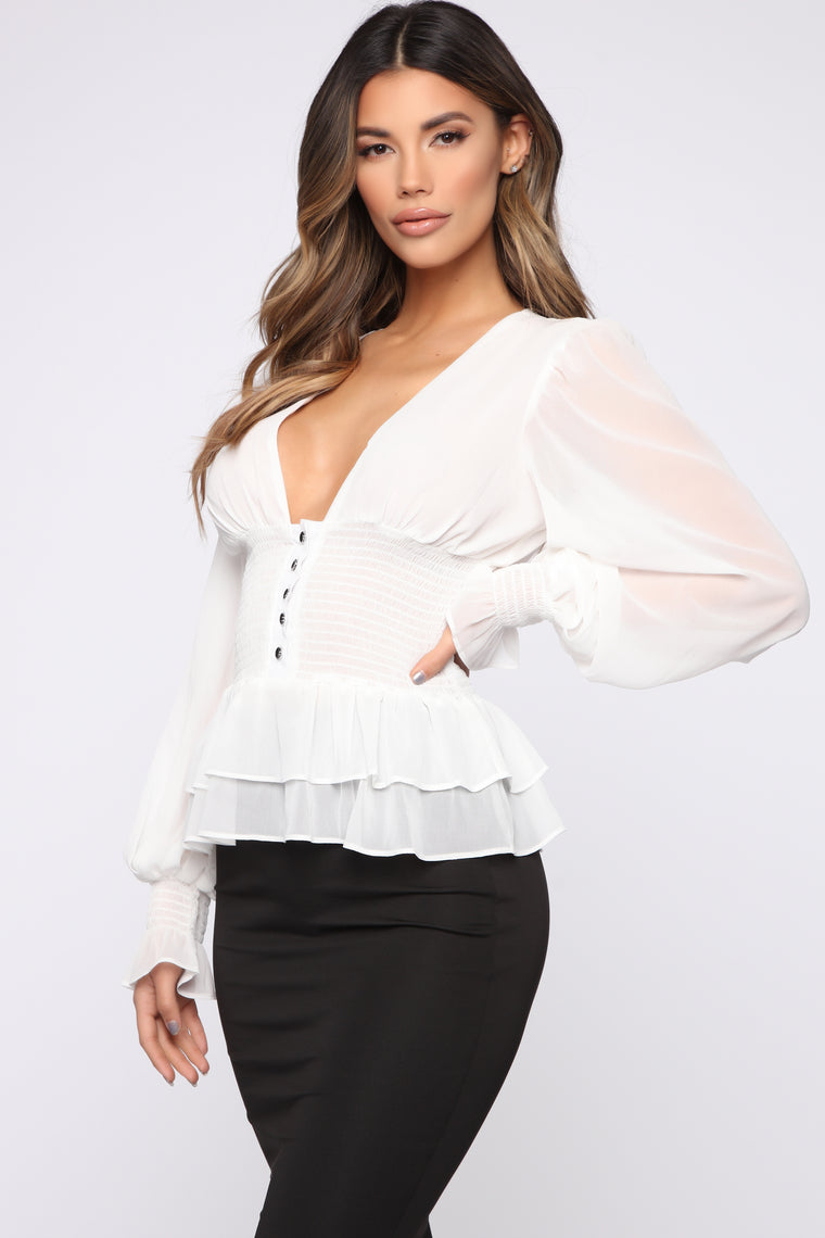 One Dance Blouse - OffWhite