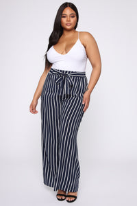 Clarice Striped Pants - Navy/Combo Angle 1