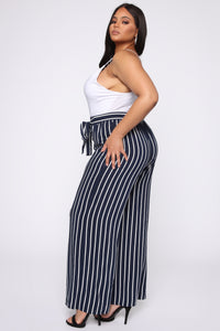 Clarice Striped Pants - Navy/Combo Angle 3