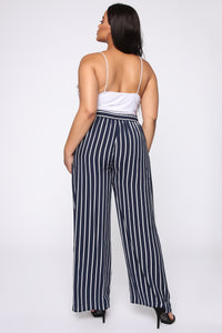 Clarice Striped Pants - Navy/Combo Angle 5