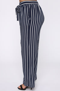 Clarice Striped Pants - Navy/Combo Angle 4