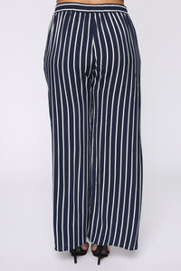 Clarice Striped Pants - Navy/Combo Angle 6