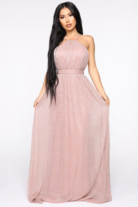 Classy Night Out Maxi Dress - Mauve