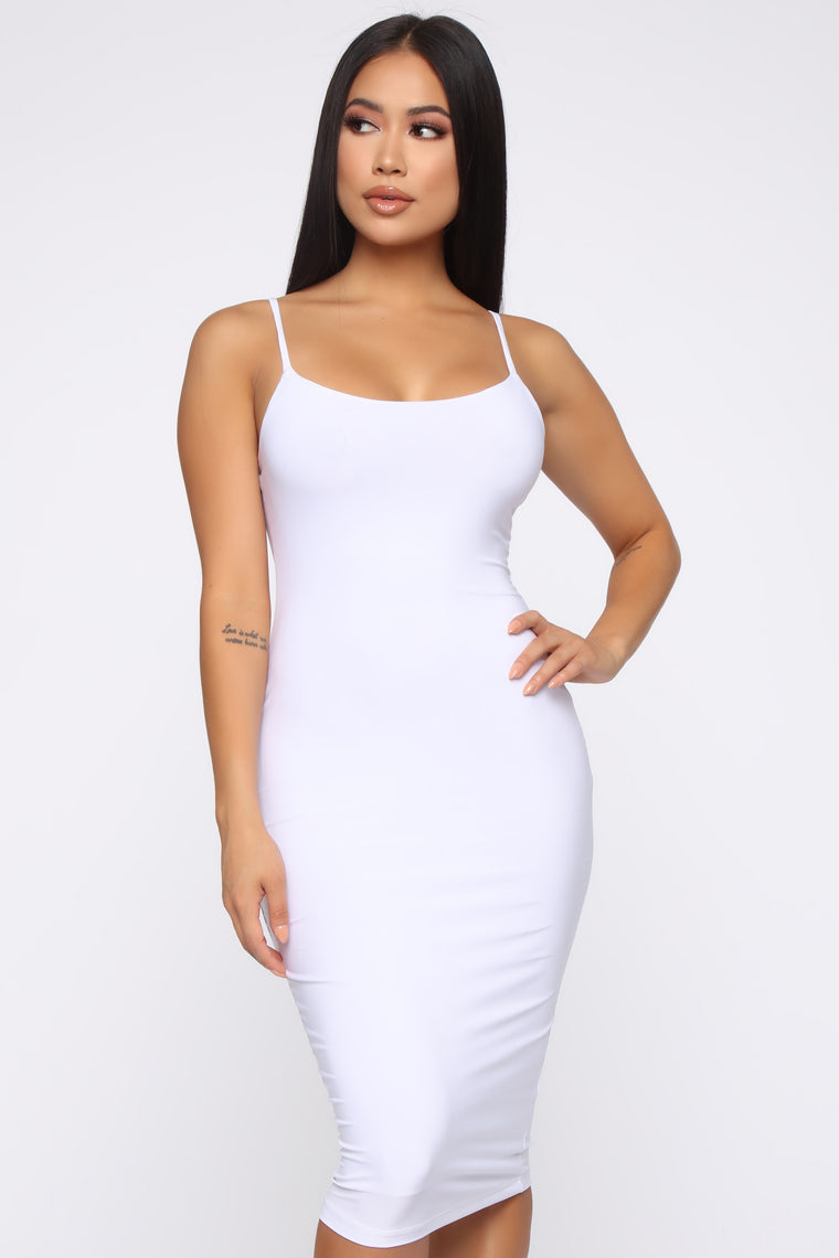 Simply Radiant Midi Dress - White