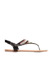 Beaded Business Sandals - Black