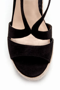 Walk Away With Me Wedge - Black