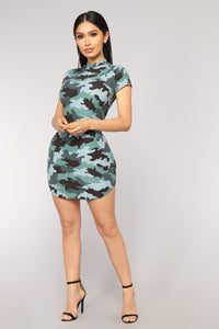Beverly Hills Trooper Camo Tunic - Teal Camo