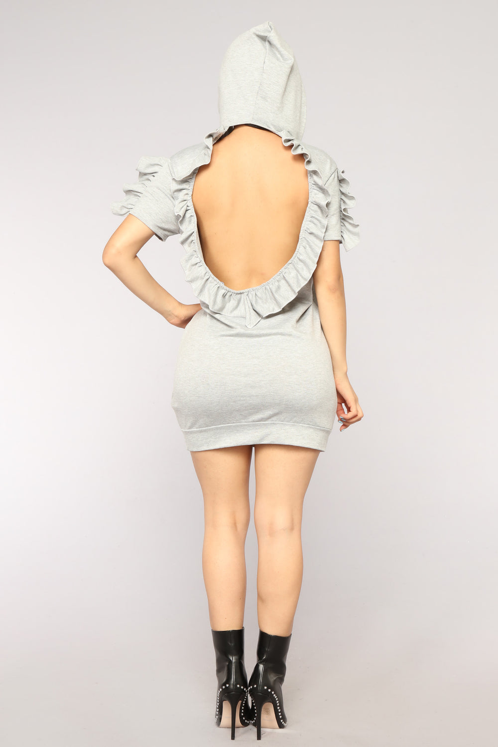 No Setbacks Ruffle Tunic - Heather Grey