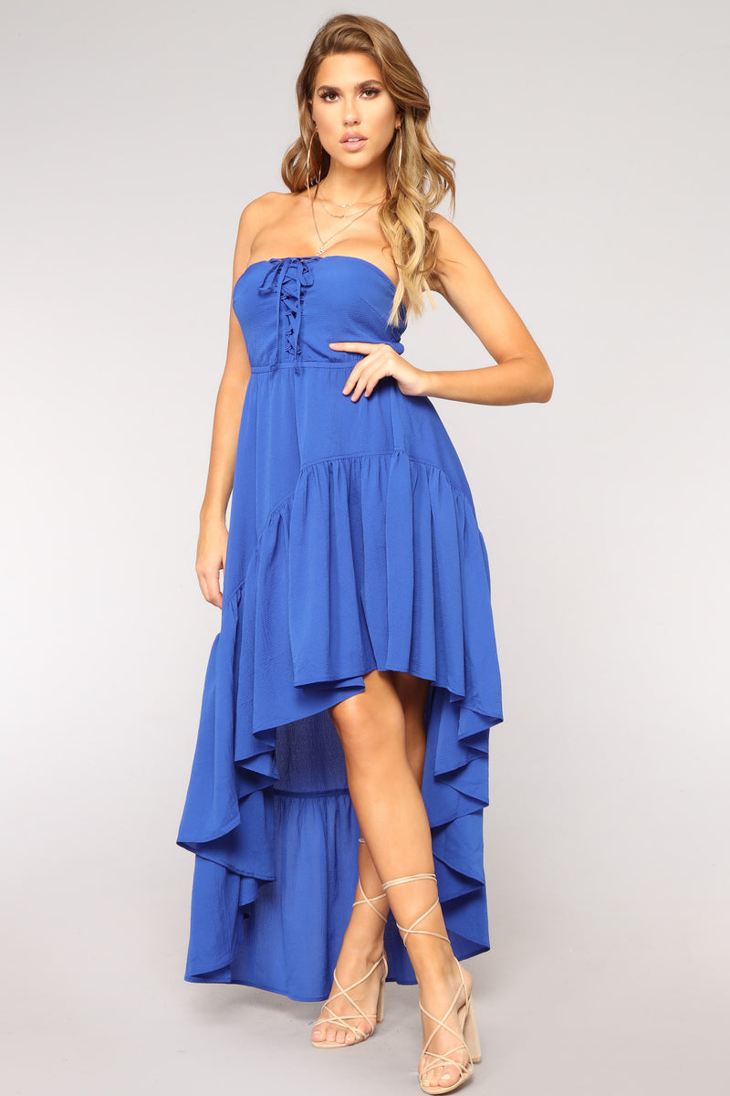 Into The Ocean High Low Dress - Royal