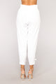 Moving Forward Linen Pants - White