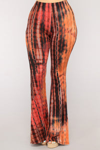 Right On Tie Dye Set - Rust