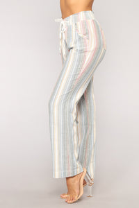 Jetsetting Linen Pants - Multi
