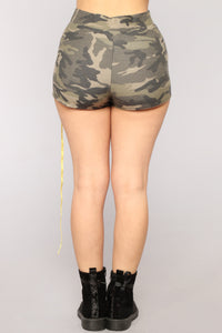 Fightin' Sequence Sequin Lounge Set - Olive Camo