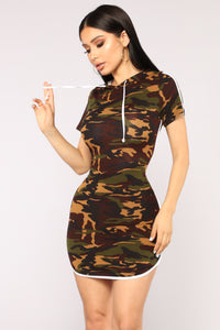All Eyes On You Camo Dress - Camo