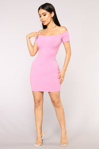 Desiree Off Shoulder Dress - Pink