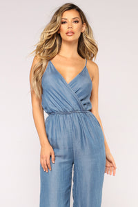 Very Thought Of You Jumpsuit - Medium Wash