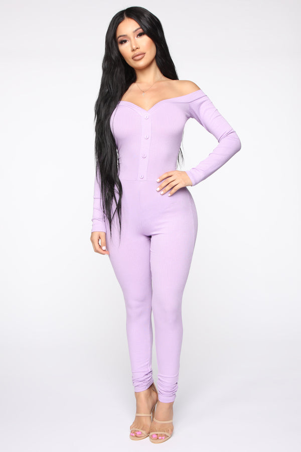 86fbad9fc72a Fool In Love Off The Shoulder Jumpsuit - Lavender