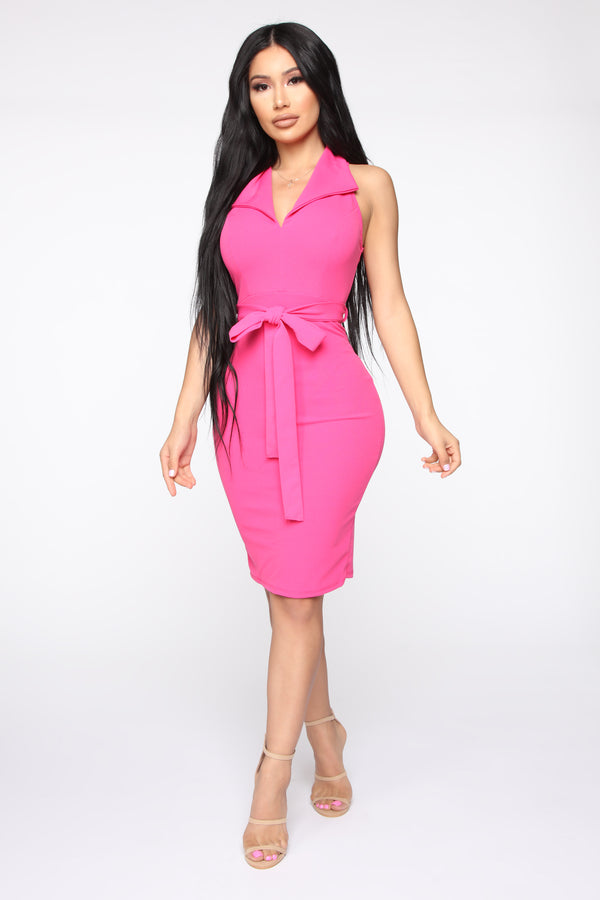 a3fc7b1fb8f2 Boss Attitude Belted Mini Dress - Fuchsia