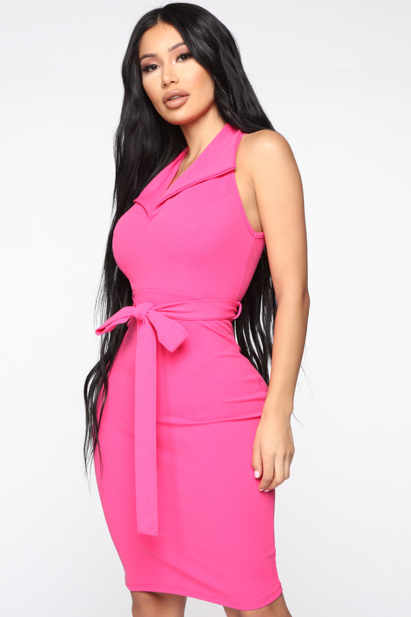 3ea173f0ad Boss Attitude Belted Mini Dress - Fuchsia