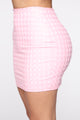 Hardly In Love Mini Skirt - Pink