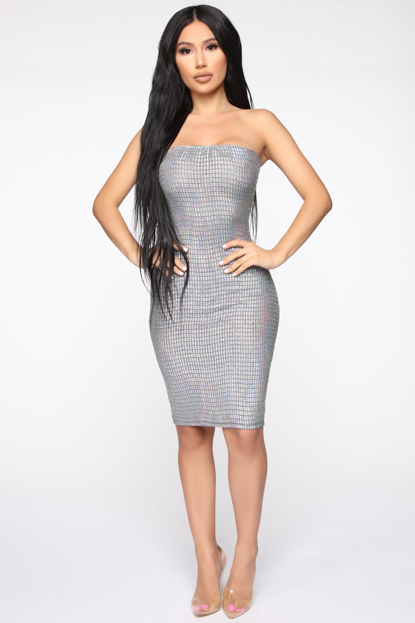 91d3e6bcb191b Special Affect Holographic Tube Dress - Hologram