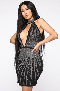 Moment Of Desire Studded Dress - Black Angle 1