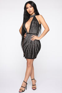 Moment Of Desire Studded Dress - Black Angle 3