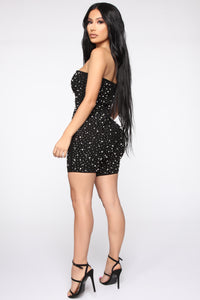 Owns Diamonds And Pearls Romper - Black