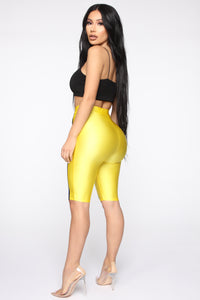 How You Like Me Now Biker Shorts - Yellow