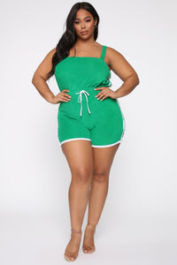 Missing Me Baby Romper - Green