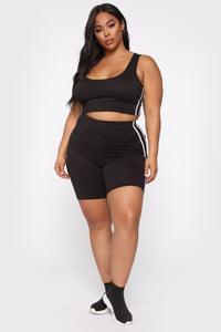 Tennis Pro Short Set - Black Angle 10