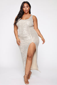 Family Affair Sequin Dress - Silver Angle 7