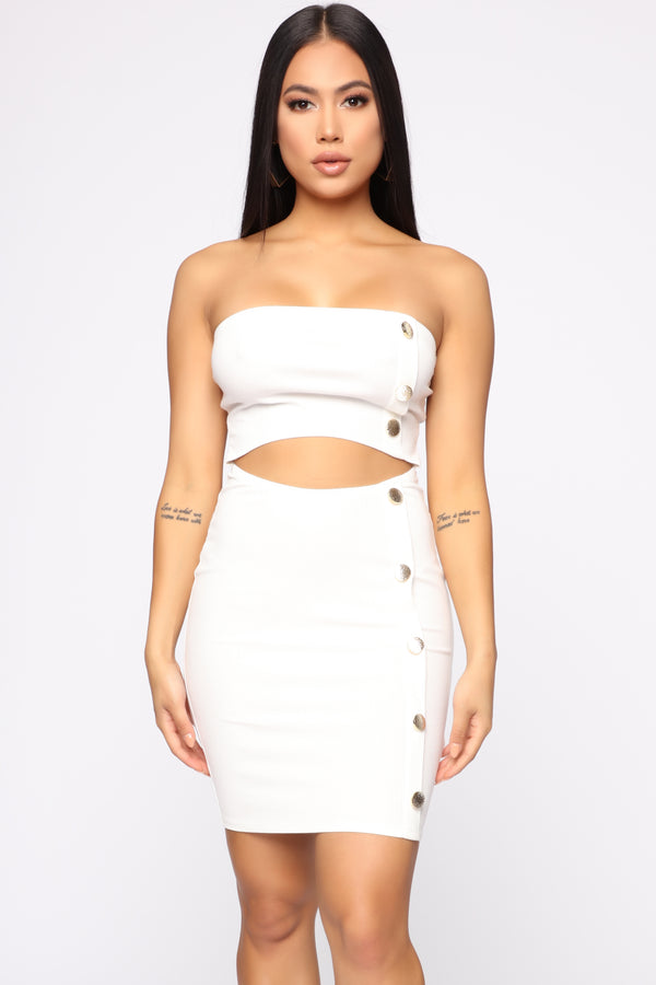 db3c5668f In The Middle Of The Fun Mini Dress - White