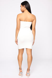 In The Middle Of The Fun Mini Dress - White