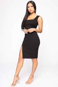 Best Wishes Skirt Set - Black
