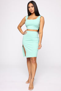 Best Wishes Skirt Set - Light Mint
