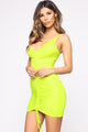 Shanghai Ruched Dress - Lime