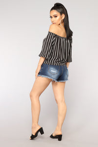 Good Day Denim Shorts - Dark Denim