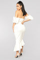 Sweet And Sassy Midi Dress - Ivory
