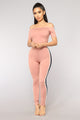 Not A Basic Babe Jumpsuit - Mauve