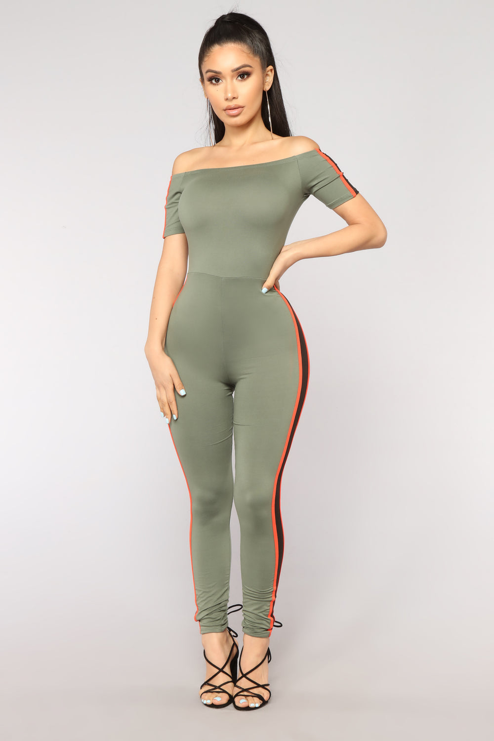 Not A Basic Babe Jumpsuit - Olive