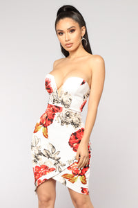 No Flowers No Thank You Floral Dress - Ivory