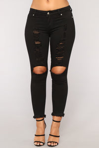 Bailey Distressed Jeans - Black