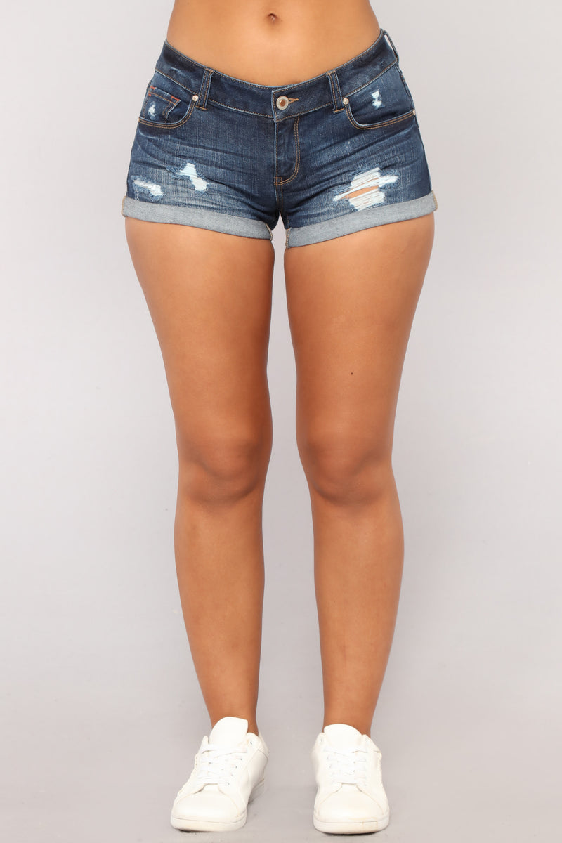 Summer Forever Denim Shorts - Dark Denim