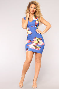 Such A Sweet Thing Floral Dress - Royal